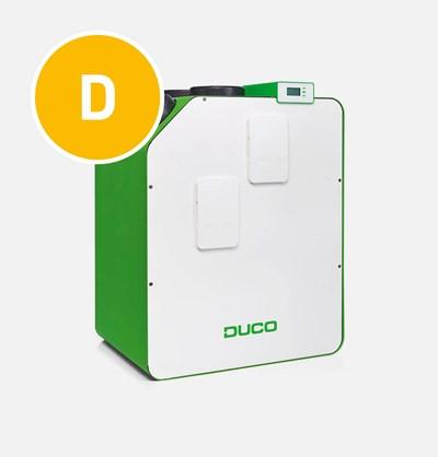 De DucoBox Energy Premium is beschikbaar in een 1-zone en 2-zone variant. Dit balansventilatietoestel wordt toegpast in het Duco Energy Premium System.